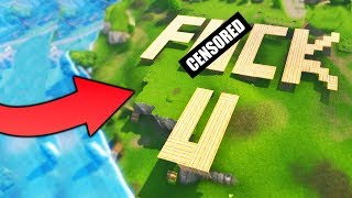 GIANT *OFFENSIVE* BUILDING TROLL - Fortnite Battle Royale