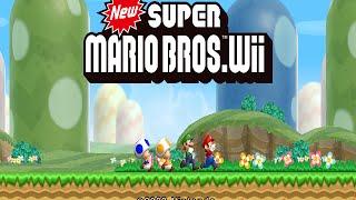 Wii Longplay [021] New Super Mario Bros. Wii (Part 1 of 3)