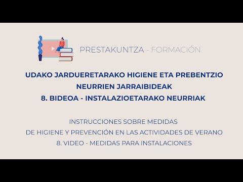 UDAKO JARDUERETARAKO HIGIENE ETA PREBENTZIO JARRAIBIDEAK - 8. Instalazioetarako Neurriak