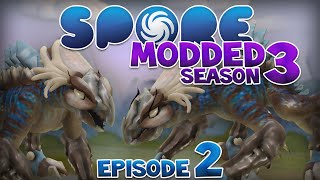 SPORE: Modded - DINOSAURS!! | Ep2 Season3 - Spore Creature Stage