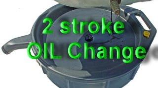 4. Oil Change Yamaha YZ250 2 stroke