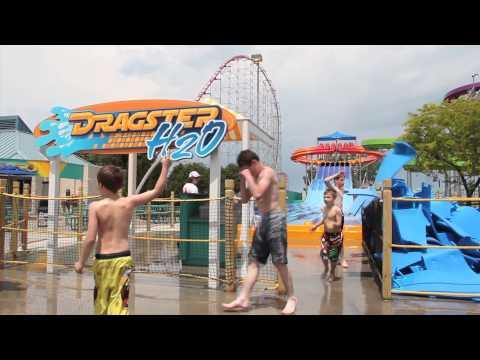 Cedar Point's New Water Slides (видео)