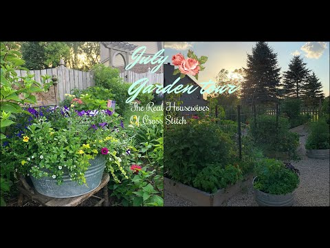 2019 July Garden Tour:priscilla & Chelsea-the Real Housewives Of Cross Stitch