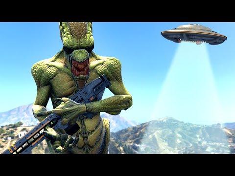 ALIEN INVASION GTA 5 MOD! (видео)