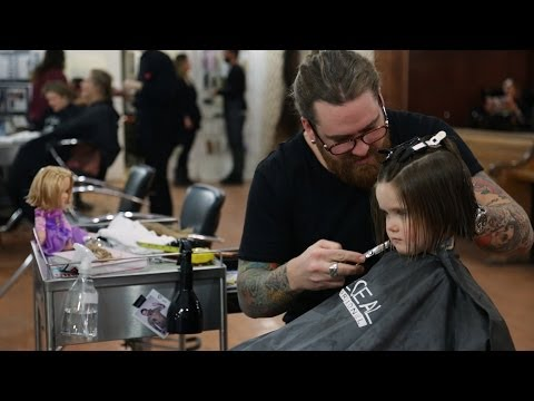 WATCH: 3 Year Old Donates Hair To Help Kids With Cancer!