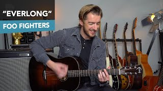 Everlong - Acoustic Guitar Lesson Tutorial - Foo Fighters Dave Grohl