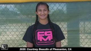 2020 Courtney Beaudin Catcher Softball Skills Video