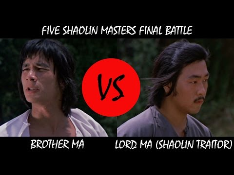 Alexander Fu Sheng vs Lord Ma - Five Shaolin Masters 1974