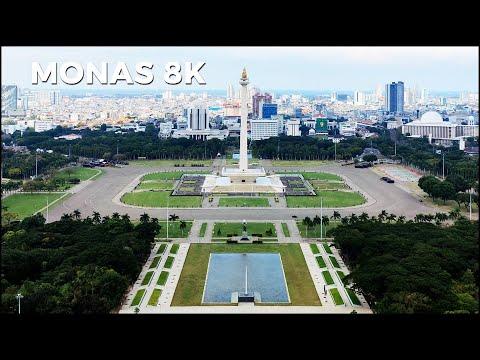 MONAS 8K - Plaza Selatan Monumen Nasional Jakarta City Indonesia ~ Walking Tour