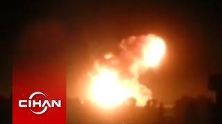 IŞİD'in petrol rafinerisi böyle vuruldu