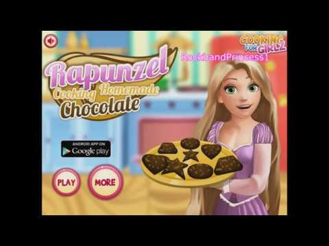 Making And Cooking Chocolate Cake Brownies Recipes With Rapunzel In Games