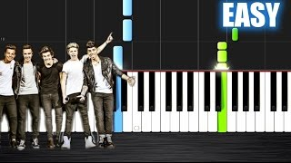 One Direction - What Makes You Beautiful - EASY Piano Tutorial  Ноты и М�Д� (MIDI) можем выслать Вам