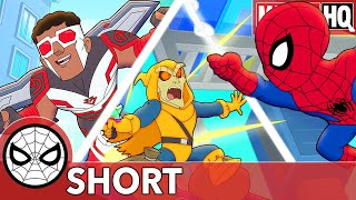 Spidey & Falcon Take Turns! Marvel Super Hero Adventures - You Go High, I'll Go Low | SHORT