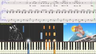 Кошка Маня - Детская песенка (Ноты для фортепиано) (piano cover)