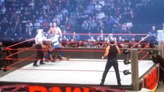 John Cena & Dean Ambrose vs Seth Rollins & AJ Styles - WWE Brooklyn