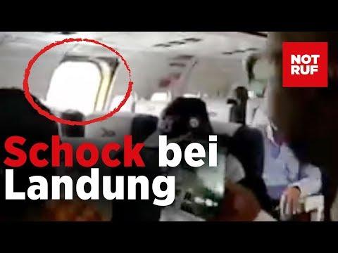 Während der Landung – Notausstieg kracht ins Flugzeug ...