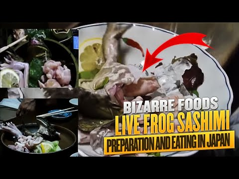 Live Frog Sashimi Preparation and Eating in Japan (видео)