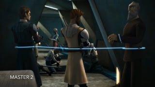 [Obi-Wan uses the Force as he can flee with Anakin & Dooku] Star Wars TCW Season 1 Episode 12 [HD]