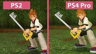 GameStar PCs  Gaming PCs & Notebooks: http://www.one.de/shop/index.phpBuy Kingdom Hearts II here (US): http://amzn.to/2pSNhVEKingdom Hearts II kaufen (DE): http://amzn.to/2qENWazKingdom Hearts 2 has been ported to so many platforms by now it's time to take a look at each version. We compare the Kingdom Hearts HD 2.5 ReMix Ports on PS3, PS4 and PS4 Pro with the original version on PS2. We captured the PS4 Pro in 2160p mode since this is the best possible version of Kingdom Hearts – at least from a technical perspective. The PS2 version is grabbed from a compasite signal source and scaled up for the video.---------------------Kingdom Hearts 2 gibt es mittlerweile für die PS4 mit PS4 Pro Unterstützung. Außerdem wurde das Spiel auch für die PS3 portiert. Zeit also, einen Blick auf alle Versionen zu werfen. Wir vergleichen daher die Grafik des Originals auf der PS2 mit dem HD ReMix 2.5 port für PS3, PS4 und PS4 Pro. Die PS4 Pro lief dabei in 2160p, die aus technischer Sicht beste Version von Kingdom Hearts. Bei der PS2 Version haben wir direkt das Composite-Signal aufgenommen und es für das Video hochskaliert.Candyland on Facebook: https://www.facebook.com/candylandGSCandyland on Twitter: https://twitter.com/CandylandGSCaptured with BlackMagicDesign Decklink 4K Extreme 12GMusic: Kingdom Hearts 2 OST – Dearly BelovedSystem used in this video:GameStar-PC Ultra------------------------------------Hier kaufen: http://bit.ly/1O7piZCIntel Core i7 6700K 4.00 GHz16 GB DDR4 RAMNvidia GeForce GTX 1080MSI Z170A PC Mate MainboardWindows 10 Pro 64bit