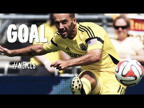 Beauty - Goal! New England Revolution 0, Columbus Crew 1. Federico Higuain (Columbus Crew) from a free kick with a right footed shot. Subscribe to our channel for more soccer content: http://www.youtube.c...