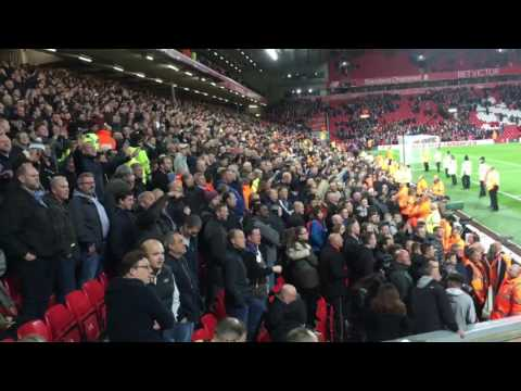 Liverpool-Man United, 10/17/16, Anfield.  Man United Fans Post Game