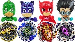 Video Beyblade super zetsu B-129, 130 appeared! PJ Masks Vs Romeo, Ninja battle! #DuDuPopTOY MP3, 3GP, MP4, WEBM, AVI, FLV Januari 2019