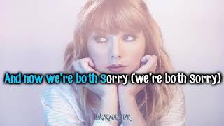 Taylor Swift - Getaway Car [Karaoke/Instrumental]