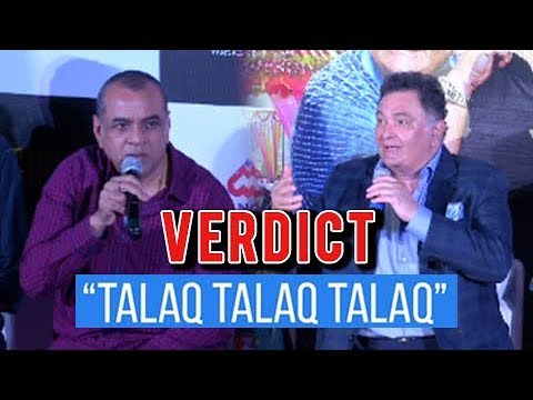 Rishi Kapoor And Paresh Rawal REACT To Triple Tala