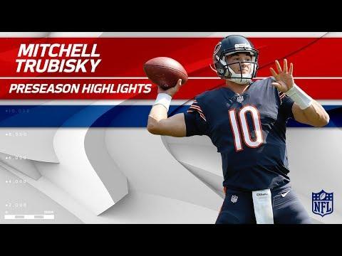 Video: Mitchell Trubisky Preseason Highlights | Bears Announce Rookie QB to Start | NFL Highlights