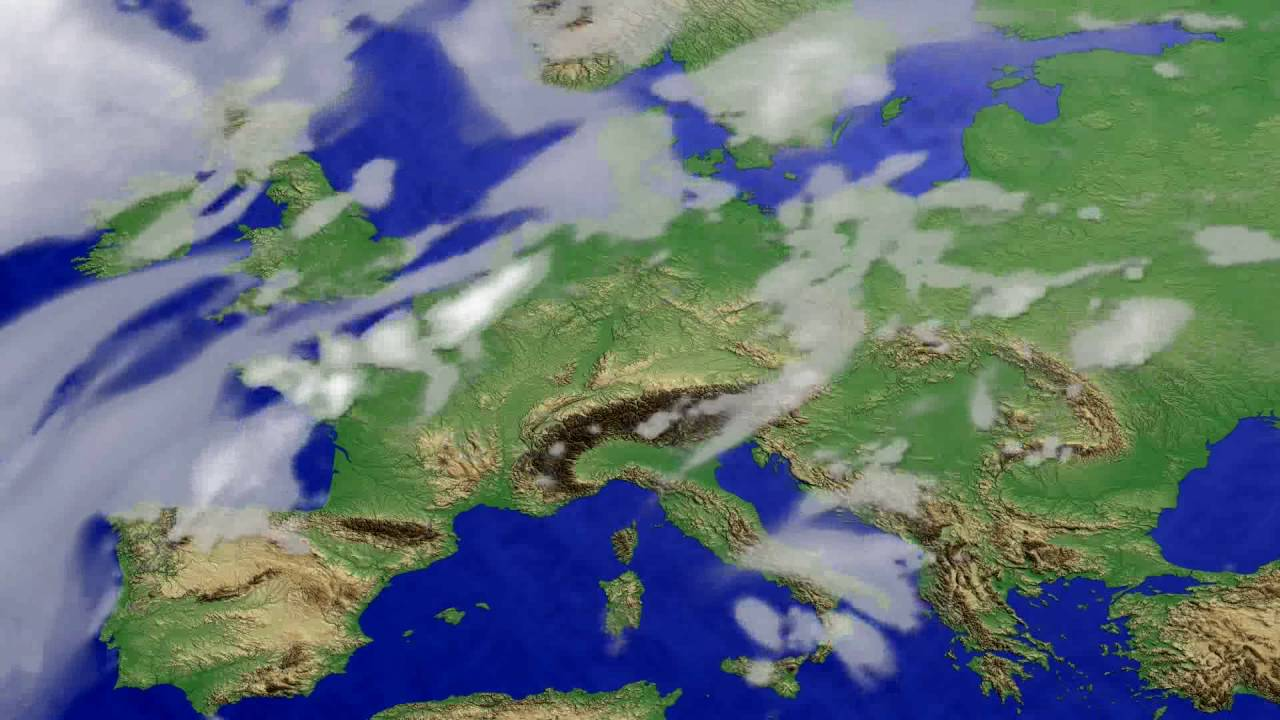 Cloud forecast Europe 2016-06-20