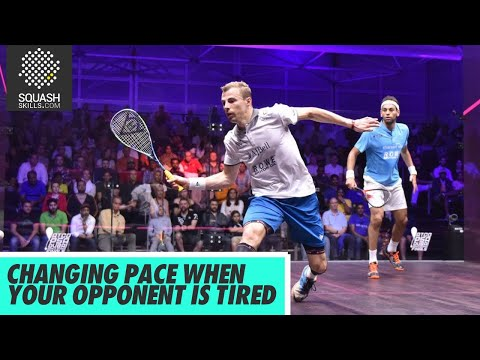 Squash Tips: Controlling speed with Nick Matthew - Changing pace when opponent is tired