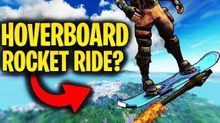 HOVERBOARD ROCKET RIDING? | Hoverboard On LAUNCH PAD! | Fortnite Mythbusters