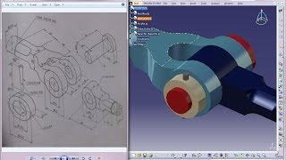 Catia V5 Tutorial|Product Engineering Design|How to Create Knuckle Joint(Easy Steps Beginners)|P4