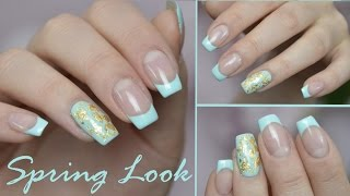 FRÜHLINGSLOOK '17 | Nailart mit Blattgold | Danana - YouTube