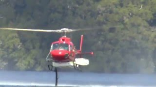 Cradle Mountain Australia  city photos : Tasmania, Australia Cradle Mountain National Park #6 Helicopter Fighting Bush Fire 17 January