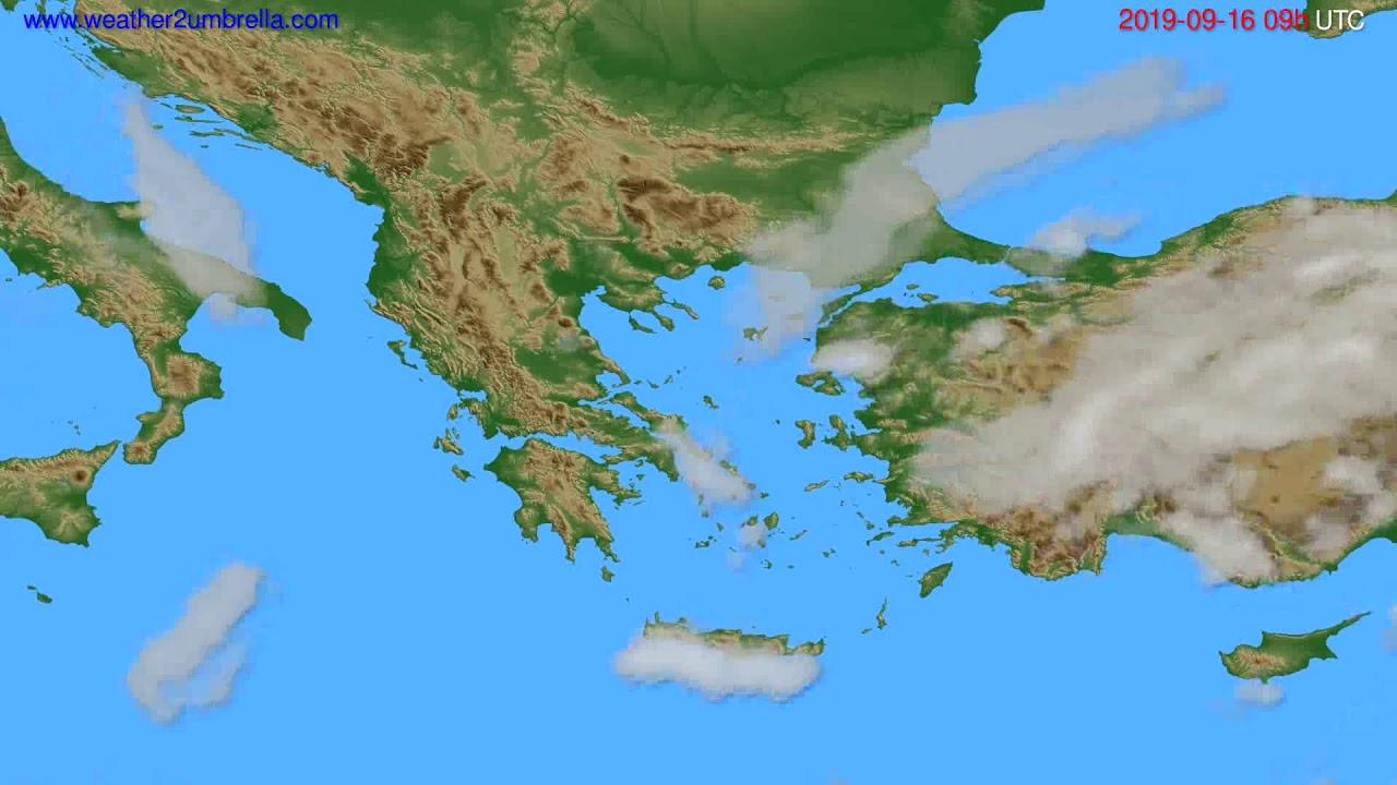 Cloud forecast Greece // modelrun: 12h UTC 2019-09-14