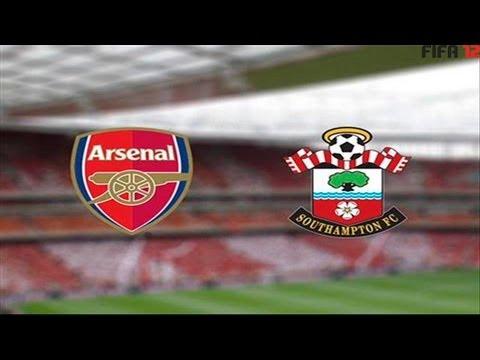 Arsenal vs Southampton 6-1 15/9/12 All Goals & Highlights HD // FIFA 12