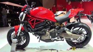 9. 2016 Ducati Monster 821 Stripe - Walkaround - 2015 EICMA Milan