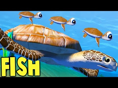Feed and Grow Fish - GIANT SEA TURTLE FAMILY, ANGLER FISH BABIES, HUGE UPDATE - Fish Feed Gameplay