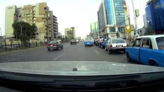 Driving in Addis Ababa. Ethiopia dashcam.