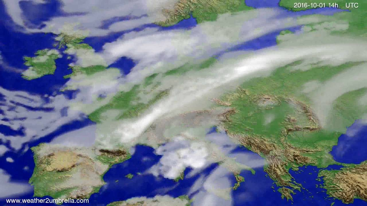 Cloud forecast Europe 2016-09-27