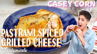 Pastrami-Spiced Grilled Cheese I Casey Corn by Tastemade