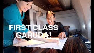 Video FIRST CLASS GARUDA INDONESIA JAKARTA-LONDON B777-300 REVIEW! MP3, 3GP, MP4, WEBM, AVI, FLV November 2018