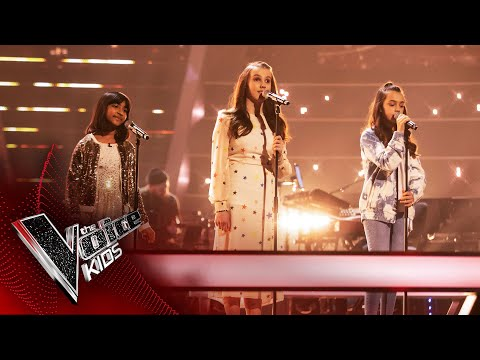 Lydia, Aadya and Rae Perform 'Somewhere Only We Know'   The Battles   The Voice Kids UK 2020