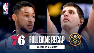 Full Game Recap: 76ers vs Nuggets | Jokic Records His 7th Triple-Double Of The Season