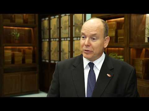 """SAS le Prince Albert II évoque l'exposition """"Princes et Princesses de Monaco"""" à Pékin"""