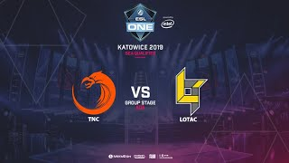 TNC vs Lotac, ESL One Katowice, SEA Qualifier, bo5, game 2 [Lum1Sit]