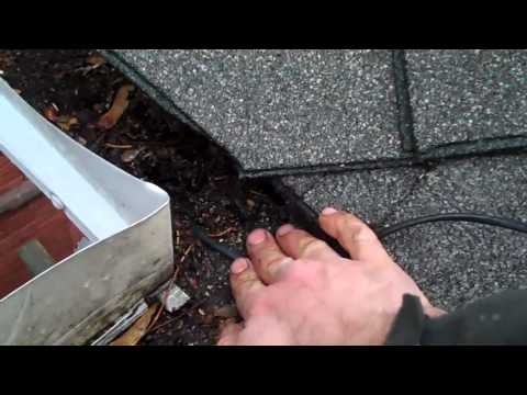 Sponge Leaf Guard Fire Hazard
