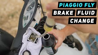 10. Piaggio Fly - Brake Fluid Change