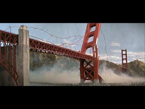 Battle in Outer Space (1959) - Golden Gate Bridge Destruction Scene